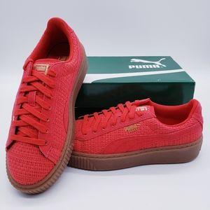 Puma Woven Basket Red Sneaker
